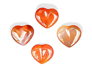 Carnelian Decorative Hearts