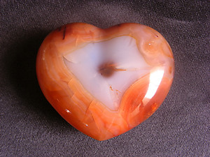 Carnelian Large Decorative Hearts - 5pcs