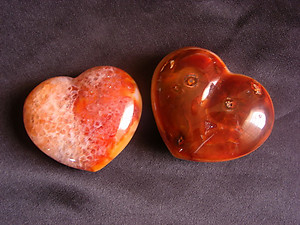 Carnelian Large Decorative Hearts - 5 Flats (60pcs)
