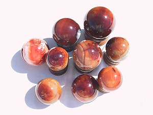 Carnelian Spheres 60 mm 2pc Lot