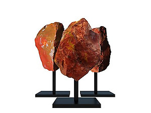 Red Jasper Rough on Base - Large