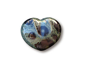Crocodile Jasper Decorative Heart
