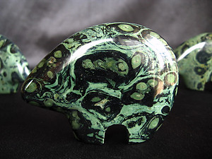 Crocodile Jasper Fetish Bear - Box (200pcs)