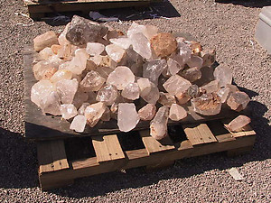 Quartz Crystal Rough - B Quality 5 lb Lot