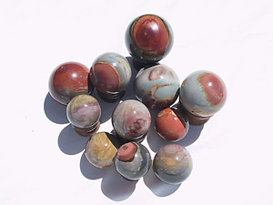 Desert Jasper Sphere (40-60mm) 5LB Lot