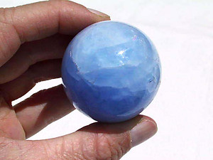 Diego Blue Calcite Spheres (40-60mm ) 5LB Lot