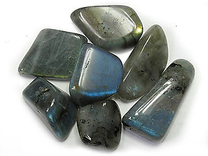Labradorite Peacock Blue Tumbled Stones - Medium (20-30mm) - 1LB