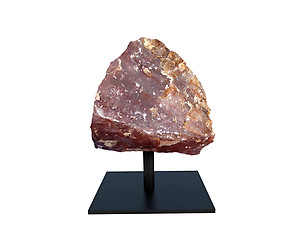 Fire Quartz Rough on Base - Small