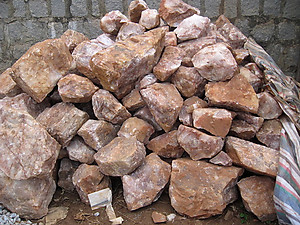 Fire Quartz Rough 10LB Lot