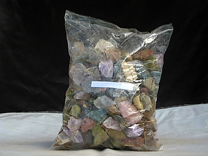 12 Stone Mix Tumbling Rough - Gem Decor Rough (5-30g) 100Kg (220LBS)