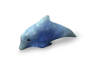 Blue Calcite Small Dolphin - Simple Shape