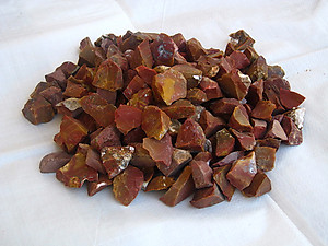 Red Jasper Tumbling Rough - Gem Decor Rough (5-30g) 5Kg (11LBS) 1 Bag