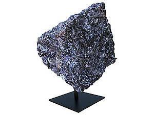 Indigo Gabbro Rough on Base - Large