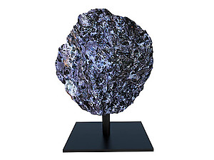Indigo Gabbro Rough on Base - Small