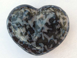 Indigo Gabbro Large Decorative Heart