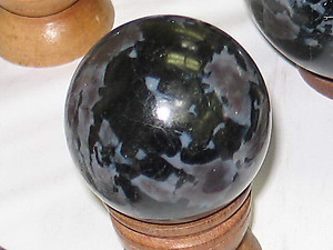 Indigo Gabbro Spheres 40 mm - 2 piece lot