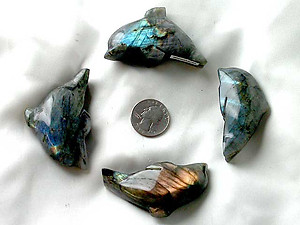 Labradorite Small Dolphin - Simple Shape