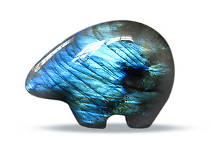 Labradorite Fetish Bear Carvings