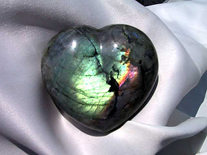 Labradorite Large Decorative Hearts - 5pcs