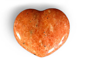 Orange Calcite Decorative Heart