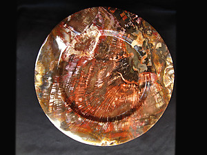 Petrified Wood Plate Fancy Base - 12 inch - 1.80Kg
