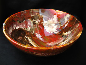 Petrified Wood Bowl 8.5 inch - 1.53Kg