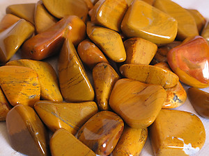 Yellow Jasper Tumbled Stones Small (under 30mm) 10 LBS