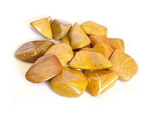 Yellow Jasper Tumbled Stones Large (over 30mm) 33LBS