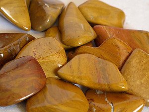 Yellow Jasper Tumbled Stones - Large (30-45mm) - 1LB Bag