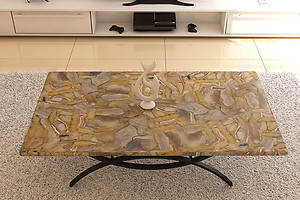 Banded Agate Table Top (140 x 83 x 3 cm)