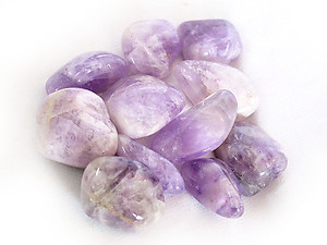 Amethyst Tumbled Stones Large (over 30mm) - 33LBS