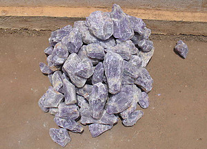 Amethyst Rough - Block 500 LBS Lot
