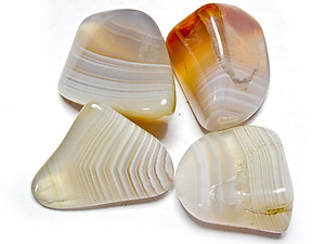 Banded Agate Tumbled Stones - Extra Large (45-60mm) - 1LB