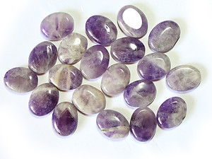 Banded Amethyst Oval Shapes