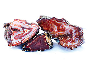 Banded Carnelian Agate Rough - 5LB Lot