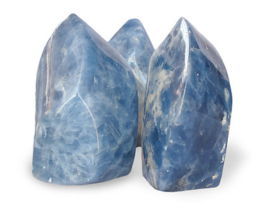 Blue Calcite Flame (0.5-1kg Piece)