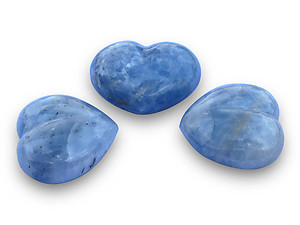 Blue Calcite Decorative Hearts