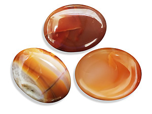 Carnelian Oval Shapes