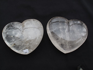 Quartz Hearts Very Large (7-8