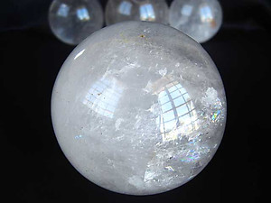 Set of 3 Quartz Spheres B Quality (40-60mm)
