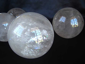 Quartz Spheres 35 mm - B Quality 2pc Lot