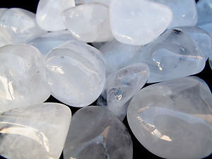 Crystal Quartz Tumbled Stones Medium (20-30mm) - A - 1LB