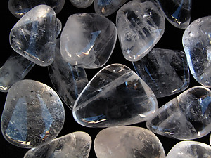 Crystal Quartz Tumbled Stones Large (30-45mm) - AA - 33LBS