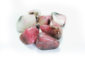 Extra Quality Rhodonite Tumbled Stones - Large (30-45mm) - 1LB