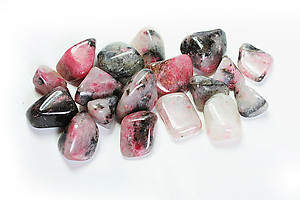 Extra Quality Rhodonite Tumbled Stones - Small (18-25mm) 1LB