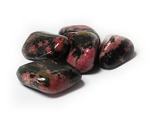 Rhodonite Tumbled Stones - Medium (20-30mm) - 1LB