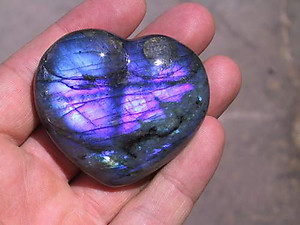 Labradorite Decorative Heart