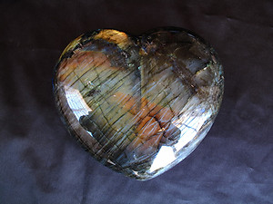 Labradorite Hearts - Very Large (6