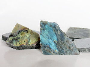 Labradorite Polished One-Face Specimen (POF) 10kg