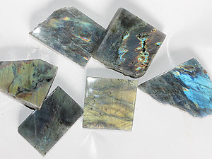 Labradorite Polished One-Face Specimen (POF) - 1 LB (5-7pcs)